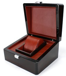 China Luxury Brand Wood Box for Watch certificate Top Gift Jewelry Bracelet Bangle Boxes Display Black Spray paint Storage Case Pillow suppliers