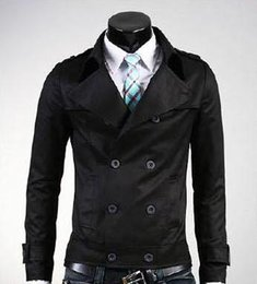 Short Black Trench Coat Men Online | Short Black Trench Coat Men ...