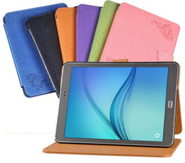 Discount screen protector drop - Luxury Print Flower PU Leather Case Cover for Samsung Galaxy Tab S2 9.7 SM-T810 T815 T810 Tablet Case + Screen Protector