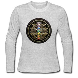 $enCountryForm.capitalKeyWord Canada - Lady's long T-shirt elegant gray girl Fall & winter long-sleeve tees shirt 100% cotton clothes size s - 2xl Chakra Ship of Life
