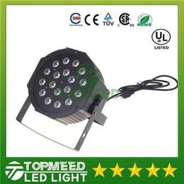 Ingrosso DHL Big LED Light Light 18x3W 54W 85-265V High Power RGB PAR Illuminazione con DMX 512 Master Slave LED LED DJ Auto-controller 1515