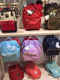 ANELLO JAPAN bag Original Backpack Rucksack Canvas Quality School Bag Campus  Travel Kids Children Bag mummy handbags messenger shoulder bags 0406341d293fd