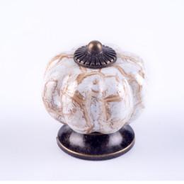 Ceramic Knobs Pumpkins Canada - Kitchen Cabinet Pumpkin Knobs Drawer Knobs Pulls Handles Ceramic Porcelain Antique Bronze Decorative Hardware