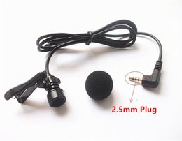 $enCountryForm.capitalKeyWord NZ - Mini Wired External Car Microphone for Car DVD Player and 3 m Cable with 2.5 mm Mono Audio Jack collar Microphone 50pcs lot Fedex Shipping