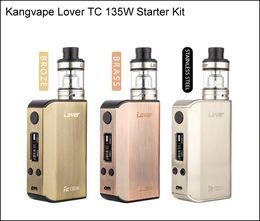 Copper metal box online shopping - Original Kangvape lover TC W Starter Kit with atomizer inside mah battery box mod SS Brass Copper Material Ecig Vapes DHL