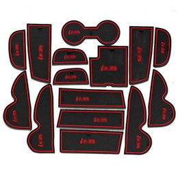 $enCountryForm.capitalKeyWord Canada - 15pcs Non-Slip Rubber Interior Car Door Armrest Storage Panel Mat Cup Holder Slot Pad Cover Sticker For Hyundai IX35 2013-2015