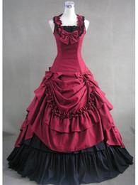Southern Belle Dress Xl NZ - Blue Cotton Victorian Southern Belle Ball Gown Dress Reenactment Theater Costume High Quality
