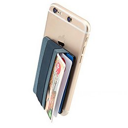 $enCountryForm.capitalKeyWord NZ - Mobile Phone 3M Gadget Wallet Credit Card Cash Pocket Sticker For Samsung iPhone 5.5 Inch Universal OPP BAG