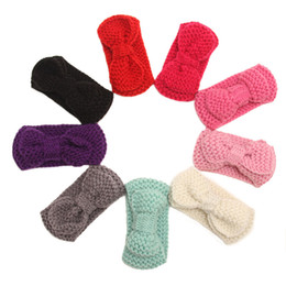 $enCountryForm.capitalKeyWord UK - 2016 Fashion 10pcs  Lot Cute Children Bowknot Knitted Headwrap Kids Knitting Wool Crochet Headband Ear Warmers For Baby Grils