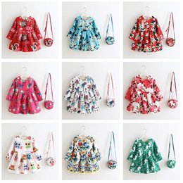 $enCountryForm.capitalKeyWord Canada - 12 Style Cartoon European Style Girl's Dresses Dobby With Handbag Kids Clothes Princess Party Tutu Dress Children Christmas Clothes 9564