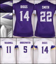 139112e7898 ... Minnesota Vikings Purple Game Jersey New Viking women game jersey S-XXL  Purple white 14 Stefon Diggs 3 Dalvin Cook ...