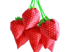 $enCountryForm.capitalKeyWord UK - Nylon Portable Creative Strawberry Foldable Shopping Bags Reusable Environmental Protection Pouch Eco-Friendly Shopping Bags Tote Bags