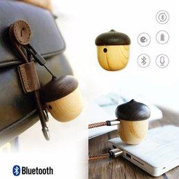 backpacks speakers 2019 - Wireless Bluetooth Speaker Portable Mini Speaker Cute Wooden Nut Shape Unique Design Outdoor Loudspeaker For iPhone Back