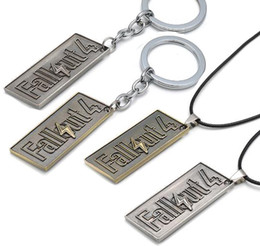 $enCountryForm.capitalKeyWord UK - Hot Game Fallout 4 Keychain Leather Chain Alloy Vintage Pendant Necklaces & Keychain Chirstmas Thanksgiving Day For Gift