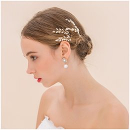 Wedding accessories hair pieces online shopping - 1 pc Hand made Pearl Bridal Hairpins Hair Wedding Hair Stick Wedding Accessory Bride Hairpins Wedding Head Piece Head Jewelry xr160638