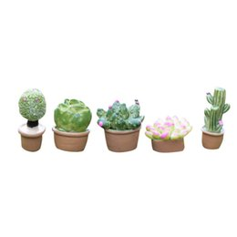 $enCountryForm.capitalKeyWord UK - 5Pcs Mini Artificial Fleshy Cactus Plant Real Touch Palm Bonsai Landscape Decorative Flower Talbe Decoration resin miniature