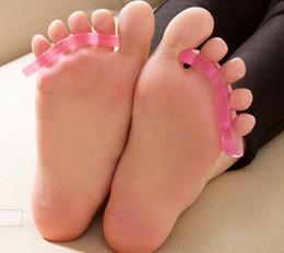 Toptan satış Salon Silikon Tırnak Toe Ayırıcılar UV Jel Akrilik Tırnak Aracı için Kullanımlık Ayırıcı Rastgele Renk