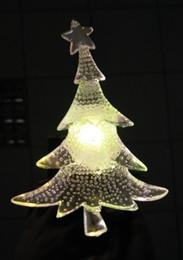 5pcs lotnew brand led window suction christmas tree table decoration light christmas ornaments acrylic fascinating tree drop shipping