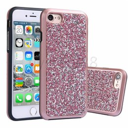 $enCountryForm.capitalKeyWord NZ - For iphone X 8 Plus Premium Bling 2 in 1 Luxury Diamond Rhinestone Glitter Back Cover Electroplate Phone Cases for NOTE 8 Samsung S8 Plus