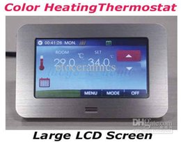 Programmable thermostats online shopping - 4 Inch Home Color Touch Screen Comfort Thermostat Room Temperature Controller Weekly Programmable