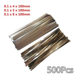 $enCountryForm.capitalKeyWord Canada - 500Pcs 0.1*(4 5 8)*100mm Nickel Plated Steel Strap Strip Sheets for Battery Spot Welding Machine Welder Equipment