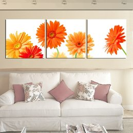 $enCountryForm.capitalKeyWord NZ - Free Shipping 3 Pieces unframed art picture on Canvas Prints Chrysanthemum chinese characters rose Lotus leaf fish peacock Abstract tree