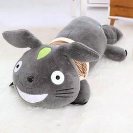 $enCountryForm.capitalKeyWord Canada - 40-100cm Big Size Kawaii Dress Totoro Plush Toys Lying On Front Smile Totoro Pillow Soft Cushion stuffed animals Doll Children's