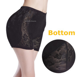 Barato Hipsters Sexy-Atacado-Fake Butt Almofadas Sexy Underwear Mulheres Calcinhas Hipster Lingerie Butt e Hip Enhancer Padded Panty Com Lace Hot Body Shape Bottom