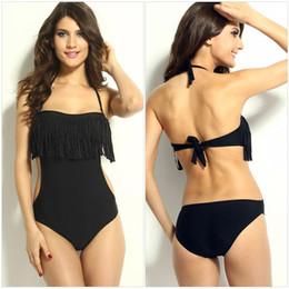 $enCountryForm.capitalKeyWord Canada - Summer Fashion Sexy Women's One-piece Swimsuits With Short Skirt Good Quality Swimwear Beachwear Swimsuit Monokinis Black Tassel Swimwear