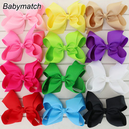 Ribbons For Hair Canada - 6 inch big ribbon bows Girls hair accessories hair bow WITHOUT clip large bows for girl headband 50pcs lot HJ008