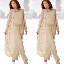 $enCountryForm.capitalKeyWord Canada - 3PCS Stylish Mother Of The Bride Chiffon Pants Suits 2016 Formal Bridal Women Outfit mother of the groom Pant Suits vestidos de fiesta
