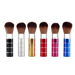 Wholesale Retractable Makeup Brushes Professional Makeup Brush Nylon Hair Retractable Face Powder Blusher Makeup Brushes Make Up Accessories