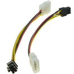 amd video UK - Wholesale- 6 Pin Male to 4 Pin Molex Male Power Supply Cable Graphics Card Power Port to D Plug Cable for nVidia ATI AMD video card