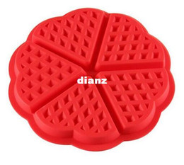 Heart sHaped silicone pans online shopping - New Arrive Heart shaped Waffles Mold Cavity Bundt Oven Muffins Baking Mould Cake Pan Silicone Mold Tool