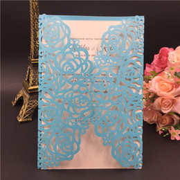 $enCountryForm.capitalKeyWord Canada - 2018 Printable Laser Cut Sky Blue Wedding Invitation Thanksgiving Card with Embossed Flower with Envelope, Free Shipping