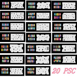 airbrush nail stencil designs NZ - 2017 New Arrival 20 Psc Airbrush Nail Stencil Sheets Design Art Paint Pages 161-180 Free Shipping