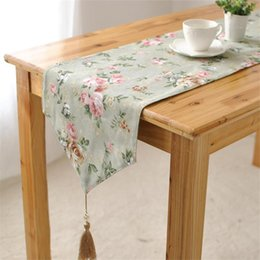 elegant table runners Australia - Preference Pastoral American country elegant bed's meal gift manufacturers selling table runner tassels runner table cover