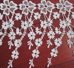 $enCountryForm.capitalKeyWord NZ - 15Yard Flower Embroidered Tassel Cotton Lace Fabric Trim Ribbon For Apparel Sewing DIY Collar Doll Cap Hair clip