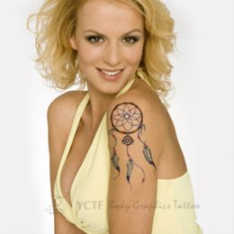 Tatouages ​​de Corps Bon Marché Pas Cher-Tatouages ​​temporaires de tatouage Imperméable à l'eau haute qualité Faux transfert Body Art Makeup Indian Dreamcatcher design tattoo designer ceintures à bas prix
