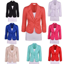 b76c0e442d4 Women Blazer Tops ladies Business Coats Formal Vestidos Office OL Jackets n  Slim Tops Casual Blouse Clothing KKA2735