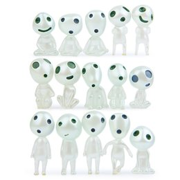 Alien toys online shopping - High quality Luminous Elves Tree toy Elf Posture Figurines Cartoon Alien Small Toy Landscape accessories IC741