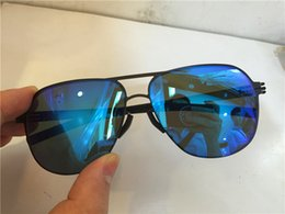 98fd5fe12d new IC sunglasses ultralight frame without screws Guenther pilot frame  Memory alloy men brand designer sunglasses human logo on lens