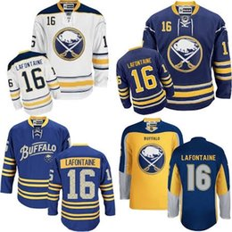 f904a4e01d5 ... Free Shipping Mens Buffalo Sabres 16 Pat Lafontaine Best Quality Cheap  100% Embroidery Logo Ice ...