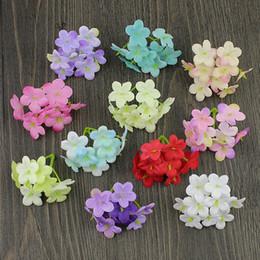 $enCountryForm.capitalKeyWord Canada - 5cm Mini Hydrangea Heads Artificial Cherry blossoms flowers home wedding flower Wrearths Hat decoration 100pieces lot