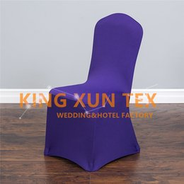 Wholesale Chairs For Events Canada - 100pcs Lycra Spandex Chair Cover Cheap Factory Price For Wedding Event Decoratopn Fast To Door Shipping
