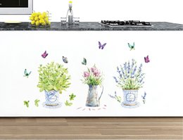 $enCountryForm.capitalKeyWord Canada - Cartoon Flowerpot Butterfly Wall Decals Green Nature Bonsai Wall Stickers for Kitchen Room Window Glass Bathroom Decor Potted Flowers Birds