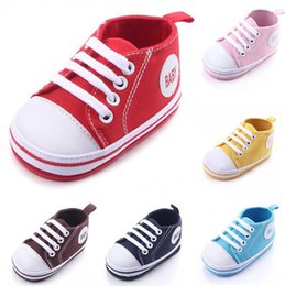 $enCountryForm.capitalKeyWord NZ - Baby Canvas Moccasin Toddler First Walker Shoes Infant Soft Sole Shoe Girls Casual Non-slip Shoe Newborn Fashion Shoes Prewalker Shoes