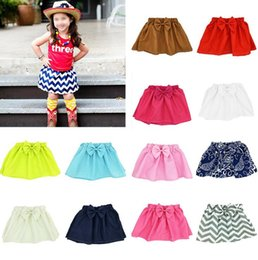Mini Jupe Pas Cher-Jupes Tutu pour filles Pettiskirt Fancy Jupes Dancewear Jupes de ballet Costume Jupe plissée Bow Dot Princess Mini-robe Robe bébé enfant KKA2458