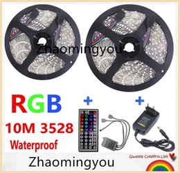 $enCountryForm.capitalKeyWord NZ - YON 2*5M 10M RGB LED Strip Light 3528 SMD Waterproof Flexible Light 60LED M with Remote Controller and DC 12V Power Supply Adapter