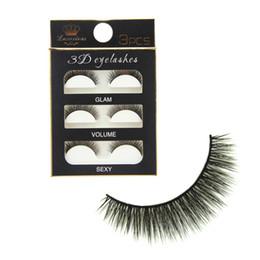 Super Lashes Canada - 3Pairs Lot 3D Black Cross Thick False Eyelashes Super Soft Natural Long Makeup Eye Lash Extension